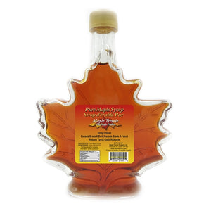 Pure Maple Syrup in 250ml Glass Maple Leaf Bottle Maple Terroir