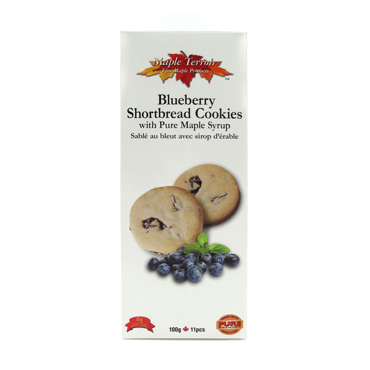 Blueberry Shortbread Cookies with Pure Maple Syrup Maple Terroir Maple Products