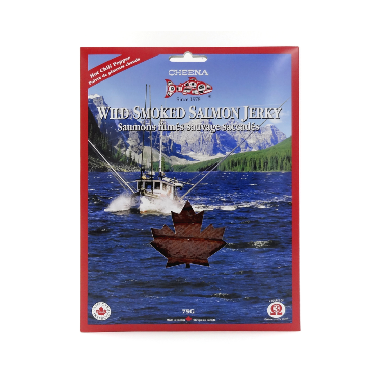 Wild Smoked Salmon Jerky Hot Chili 75g