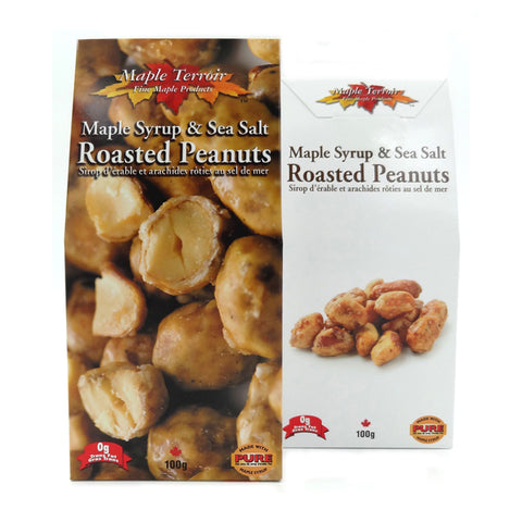 Maple Syrup & Sea Salt Roasted Peanuts Maple Terroir