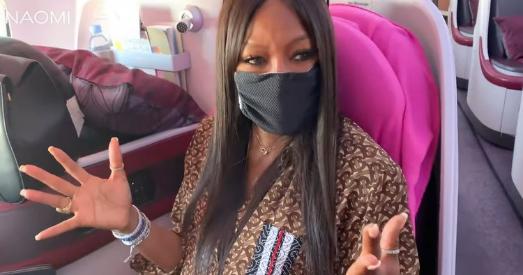 Naomi Campbell's Airport Routine