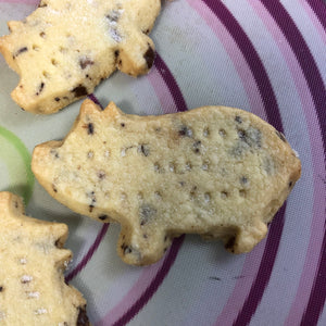 Chocolate Chip Shortbread Pigs