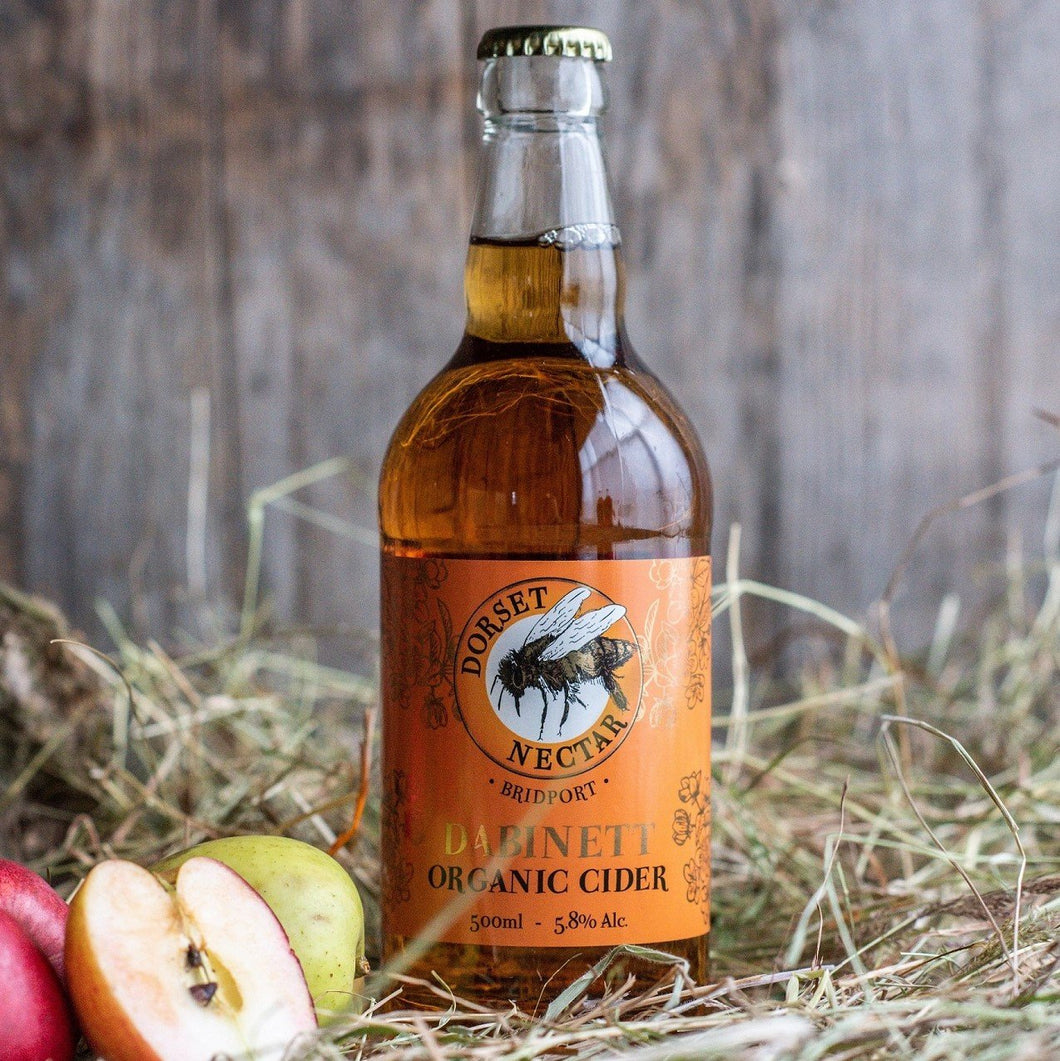 Green Label Dabinett Cider Made with Organic Ingredients