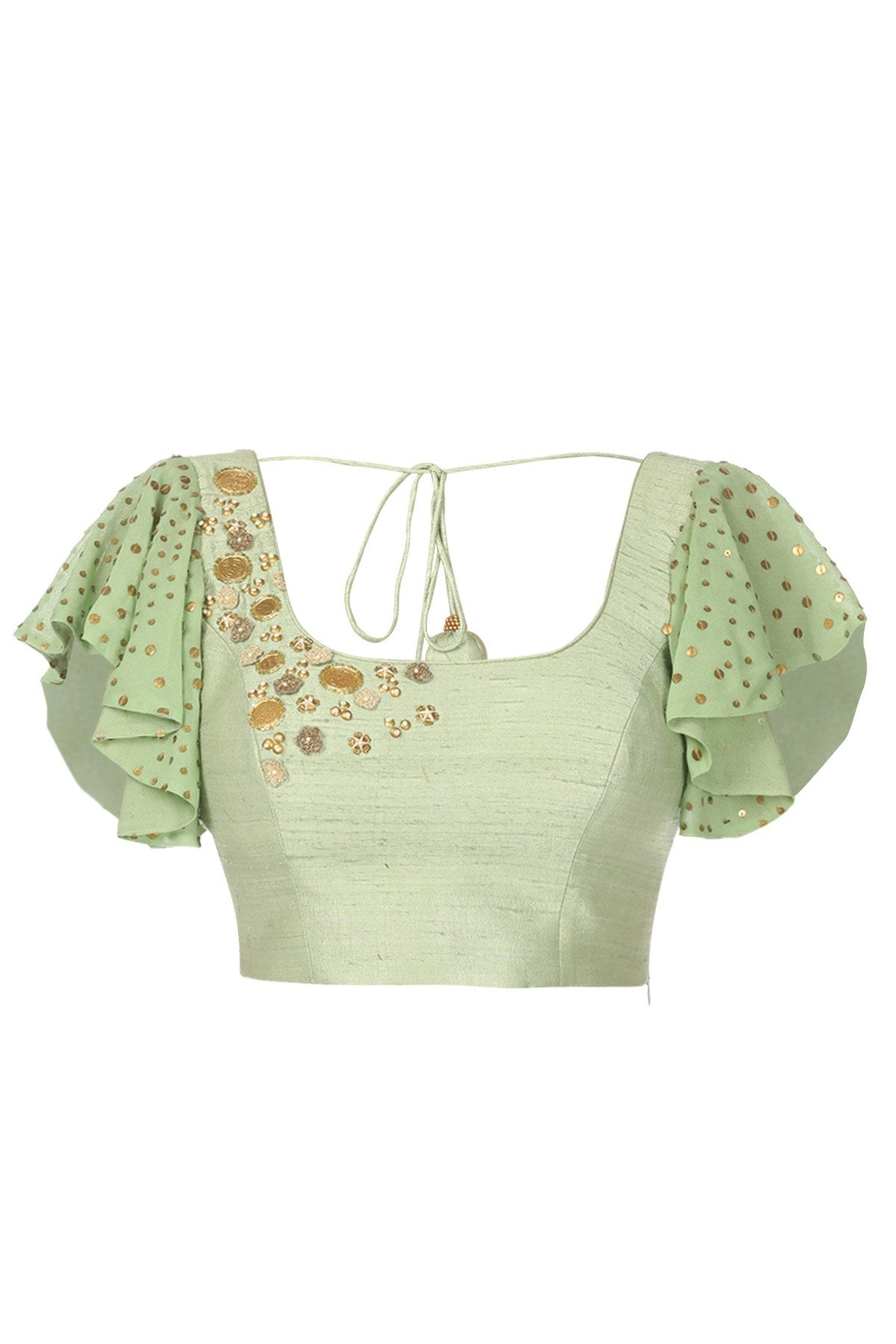 Ready-Made Pastel green blouse
