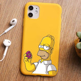 Coque smartphone Donuts Simpson - iPhone 11 PRO MAX 7 6s 8 plus XR XS MAX