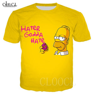 "Tshirt Donuts homer ""hater gonna hate"""