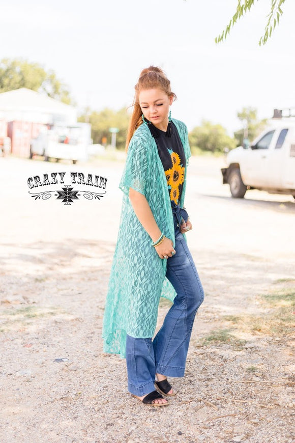 CRAZY TRAIN  LADIES MUSTARD OR TURQUOISE ALBUQUERQUE DUSTER