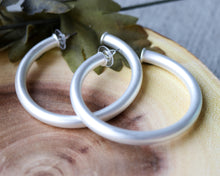 Load image into Gallery viewer, Jeanna Hoop Earring - Large Silver