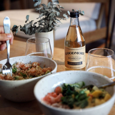 Meal with Goodmore Kombucha