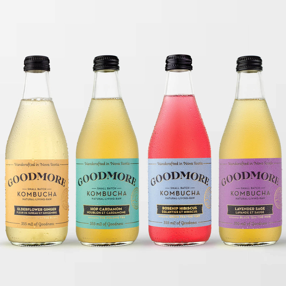 Mixed Goodmore Kombucha 12-Pack