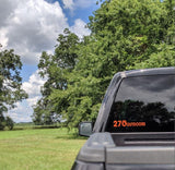 270 Outdoors Orange Decal