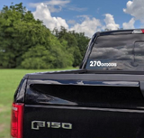 270 Outdoors White Decal
