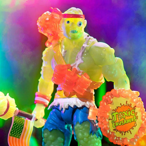 Toxic Crusaders Ultimates Toxie (Radioactive Red Rage) Figure