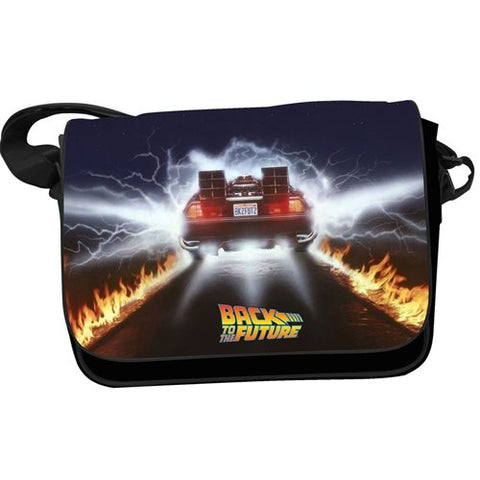 Back to the Future Delorean Messenger Bag with Flap PV