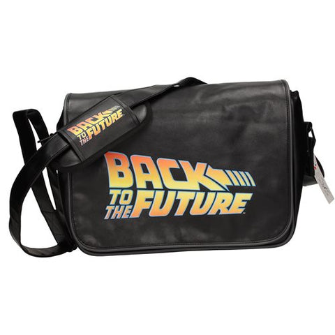 Back to the Future Logo Messenger Bag with Back Flap PV