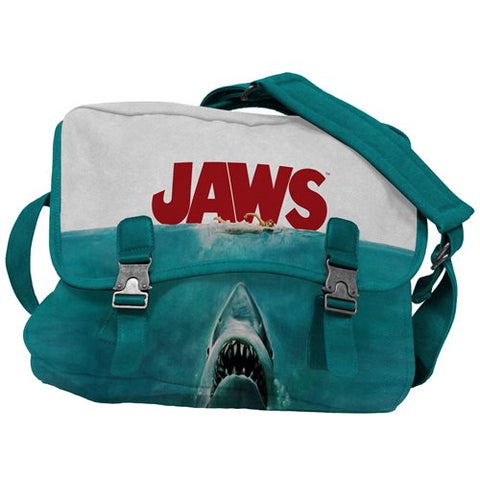 Jaws Poster Canvas Messenger Bag PV