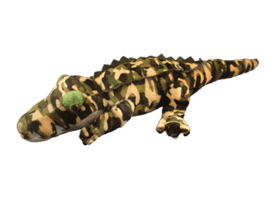 camo plush alligator