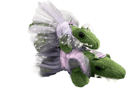 Green Ballet Gator (Purple tutu) - 2 Sizes