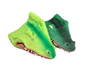 plastic silicone alligator hand puppets
