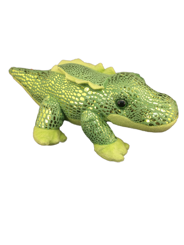 green metallic alligator plush
