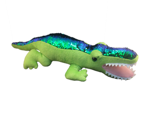 sequin plush alligator toy