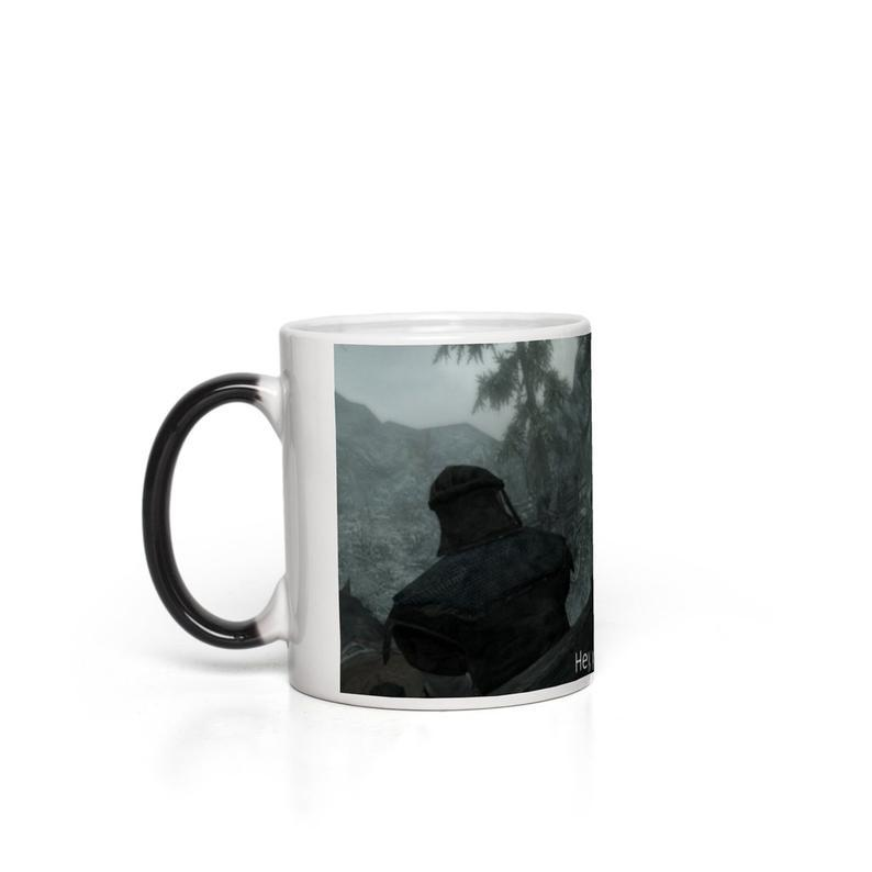 SKYRIM HEY YOU'RE FINALLY AWAKE MUG