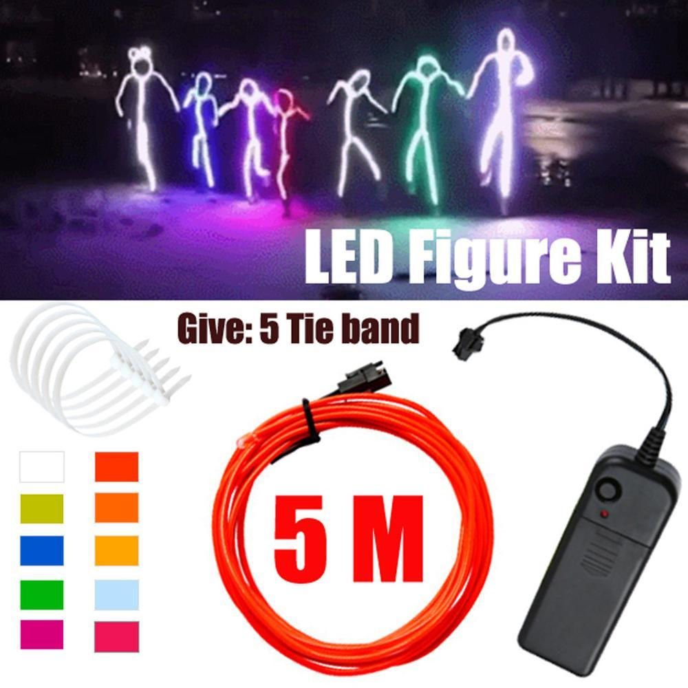 Waterproof led stick figure costume