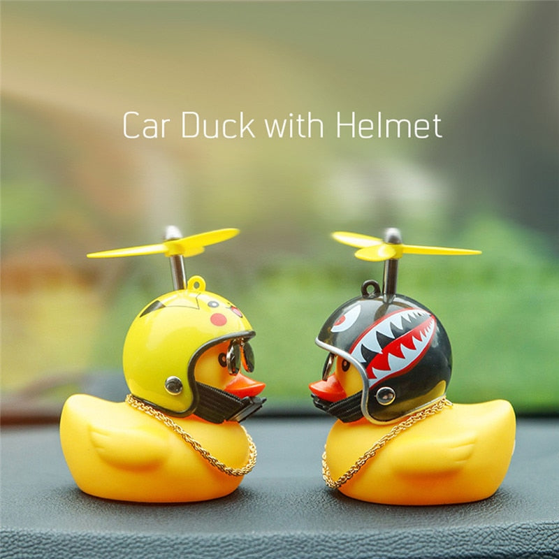 Rubber Duckie And Helmet