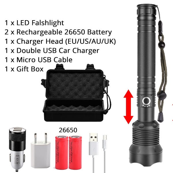 300000 lm Most Powerful Led Flashlight Torch