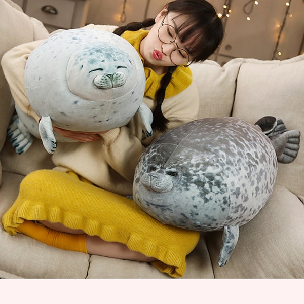 3D Novelty Throw Seal Pillows