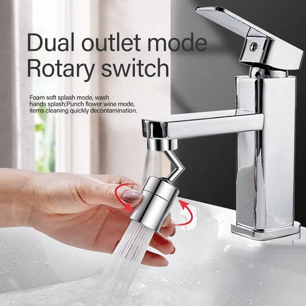 Dual-function Kitchen Sink Faucet 360-Degree