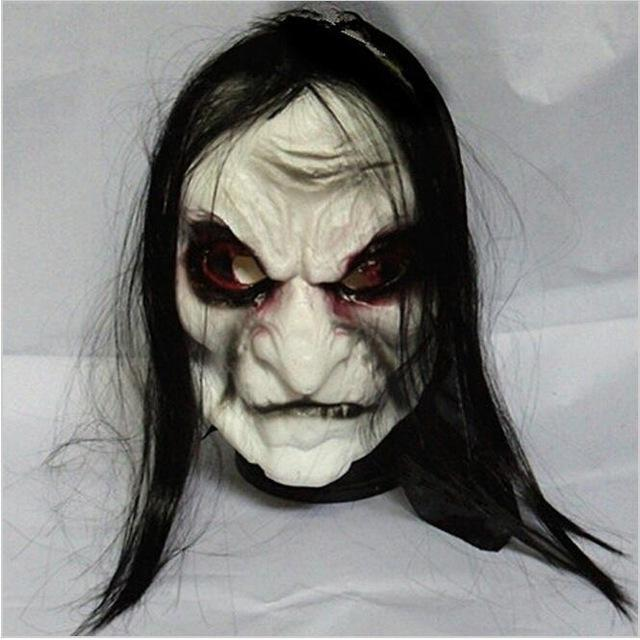 Long Hair Ghost Hedging Realistic Silicone Masks