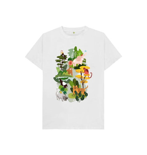 White Endangered Species Kids T-shirt