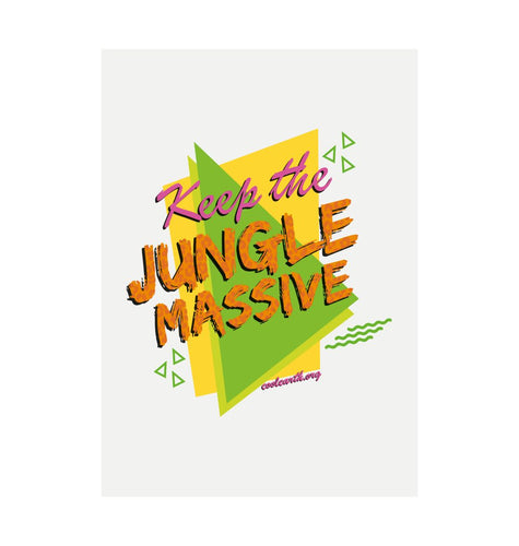 White Jungle Massive Recycled Print