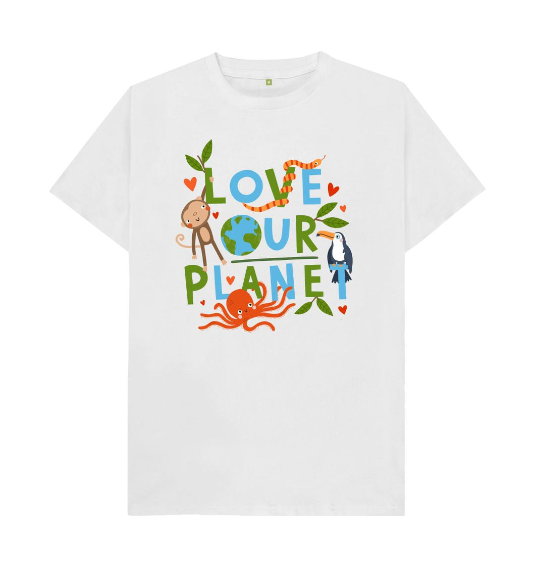 White Love Our Planet T -shirt