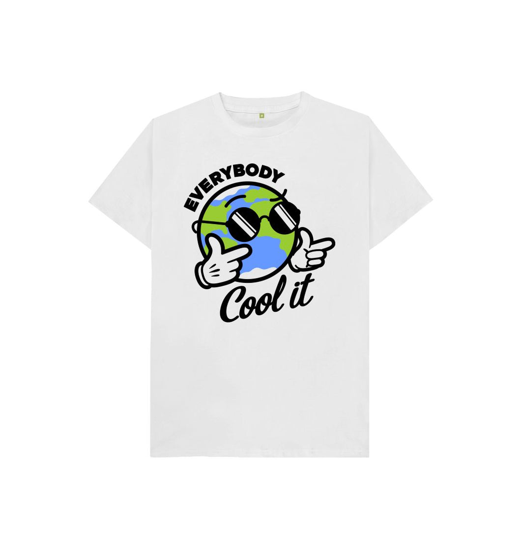 White Everybody Cool It Kid's T-shirt