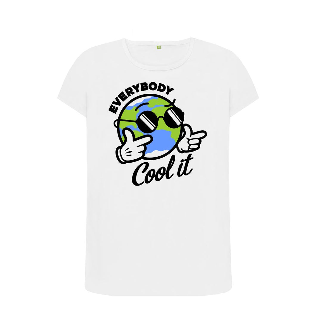 White Everybody Cool It T-shirt
