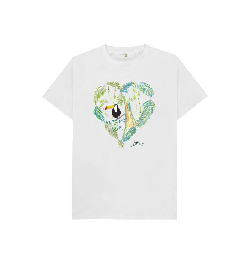 White Leah Wood 'Keep Me Safe' T-shirt
