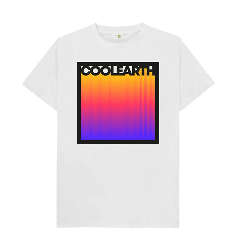 White Cool Earth Gradient T-shirts