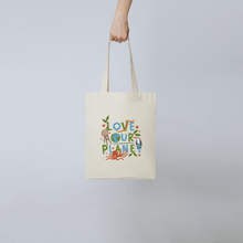 Load image into Gallery viewer, Love Our Planet Tote Bag