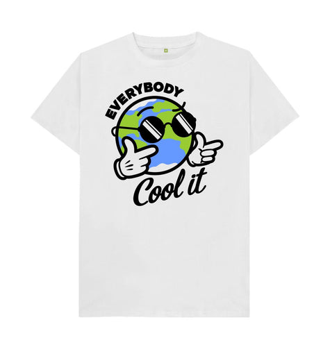 White Everybody cool it T -shirt