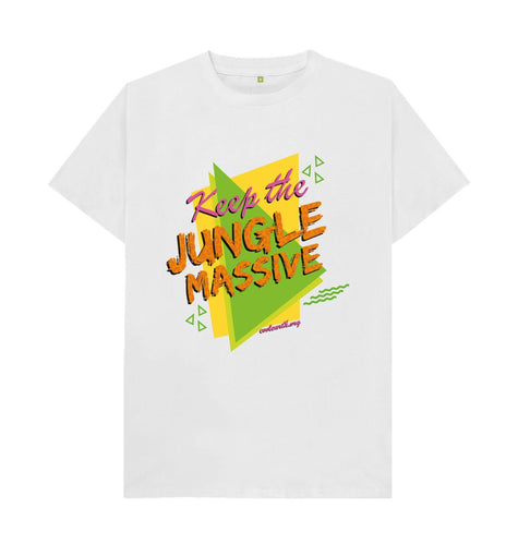 White Keep the Jungle Massive T-shirt