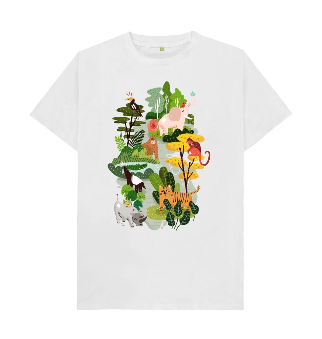 White Forest Animals T- shirt