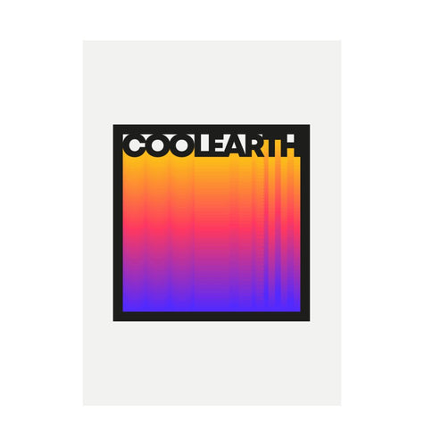 White Cool Earth Recycled Print