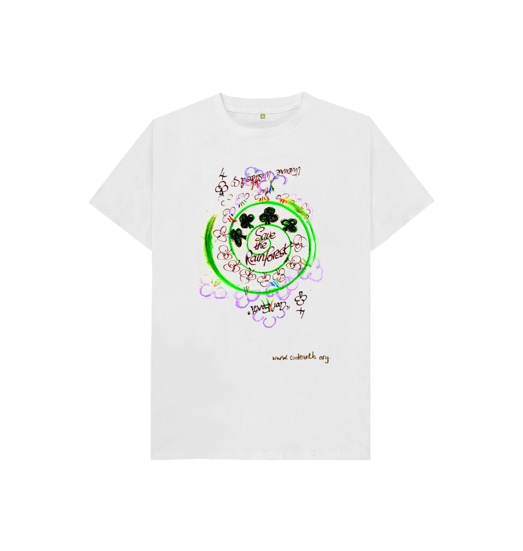 White Save The Rainforest Kid's Tees