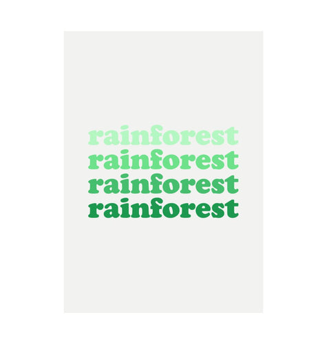 White Rainforest Recycled Print