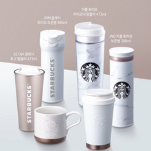 Load image into Gallery viewer, Starbucks JNO Marble White Thermos 500ml