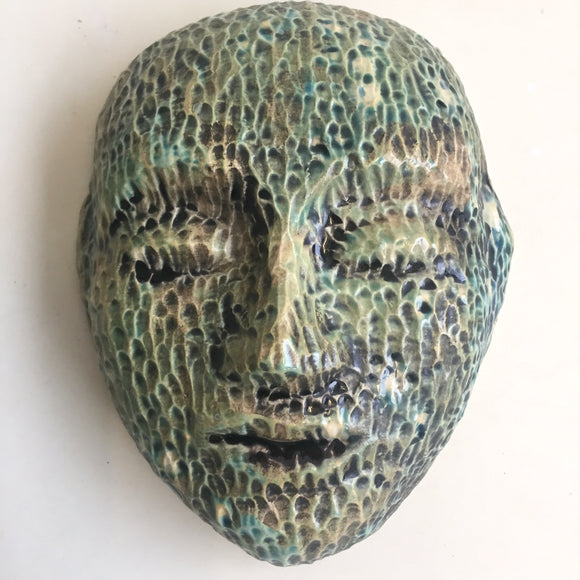 Wall Work: Meditation Mask with Ancient Texture