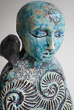 "Sculpture: ""Still"" with Turquoise Arabesque"
