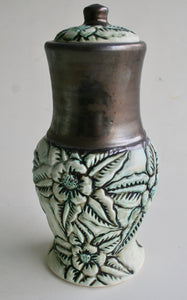 Porcelain Urn with Wild Rose Carving II